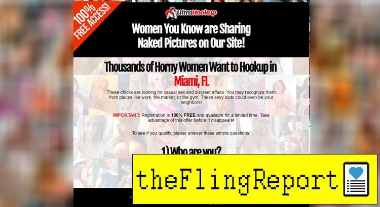 UltraHookup homepage site