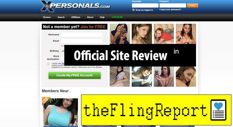 XPersonals.com Homepage